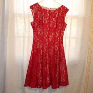Lovely Lace Red Dress